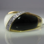 Onyx and Mother of Pearl Ring