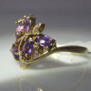 Vintage Amethyst Cluster Ring