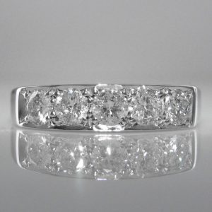 Five Stone Diamond Eternity Ring