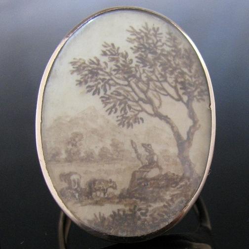 Antique Georgian Memorial Ring Circa 1790