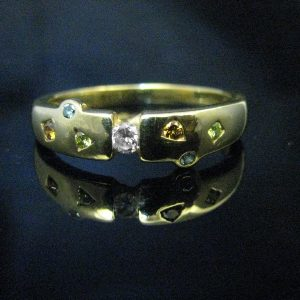 18K Diamond and MultiGem Ring