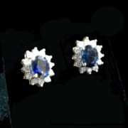 Sapphire Diamond Gold Earrings, Sapphire Earrings, Sapphires, Fine Jewellery, Jewellery Shop, Jewellers, Galway
