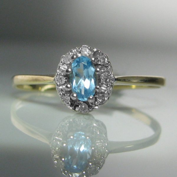Topaz And Diamond Ring, Topaz Ring, Fine Jewellery, Jewellery Shop, Jewellers, Galway