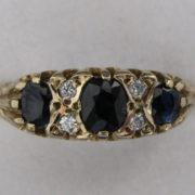 Vintage Sapphire Diamond Ring