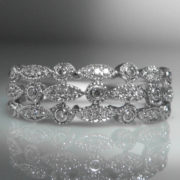 Decorative Diamond & White Gold Ring