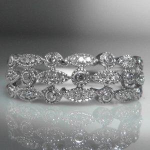 Decorative Diamond & White Gold Ring