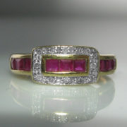 Diamond and Ruby Buckle Ring