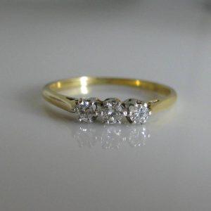 Three stone diamond ring, jewellery, Galway, Ireland, Ireland, The Antiques Room