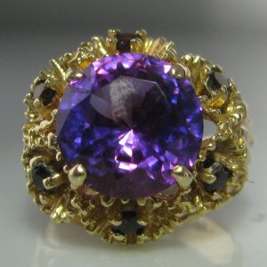 Amethyst Cluster Ring 14k Gold