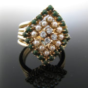 Diamond and Pearl Ring, Pearl Ring, Fine Jewellery, Jewellery Shop, Jewellers, Galway