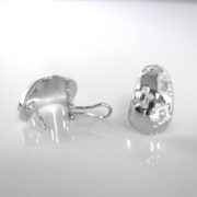 18k White Gold French Clip Earrings