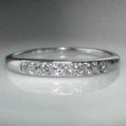 Antique Diamond Set Band in White Gold