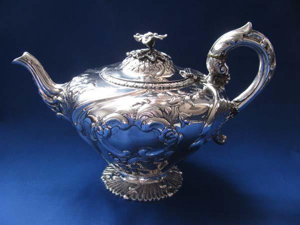 Early Victorian Irish Silver Teapot