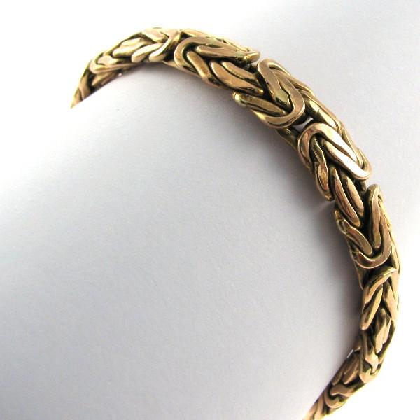 Handcrafted 14k Byzantine Bracelet