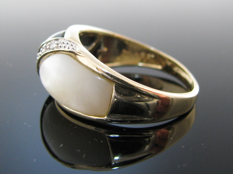 Onyx And Mother Of Pearl Ring The Antiques Room