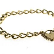 Vintage Gold Curb Link Bracelet