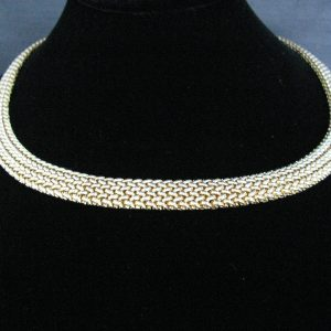 14k Gold Woven Collar Necklace, Gold necklace, Necklace, Fine Jewellery, Jewellery Shop, Jewellers, Galway, West of Ireland