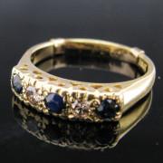 Sapphire and Diamond Ring 18K