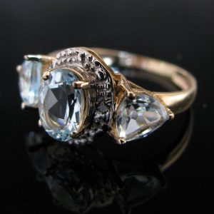 Topaz And Diamond Ring 10K Gold