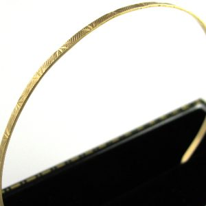 Etched Gold Bangle 14k