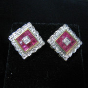 Ruby and Diamond Earrings, Ruby Earrings , Rubies, Fine Jewellery, Jewellery Shop, Jewellers, Galway