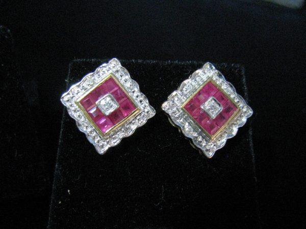 Ruby and Diamond Earrings, Ruby Earrings , Rubies, Fine Jewellery, Jewellery Shop, Jewellers, Galway