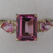 Diamond And Pink Gemstone Ring, diamond ring, jewellers, jewellery shop, Galway, fine jewellery, diamond jewllery