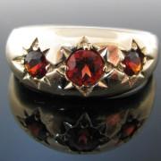 Vintage Three Stone Garnet Gold Ring, Garnet Ring, Gold Ring, Fine Jewellery, Jewellery Shop, Jewellers, Galway