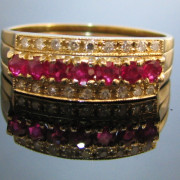 Diamond Ruby Sapphire Interchangeable Ring, Vintage Rings, Vintage Jewellery, Fine Jewellery, Jewellery Shop, Jewellers, Galway