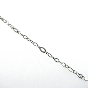 9k White Gold Fancy Link Bracelet