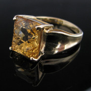 Golden Citrine Gemstone Ring 9k, jewellers, antique ring, jewellery shop, Galway