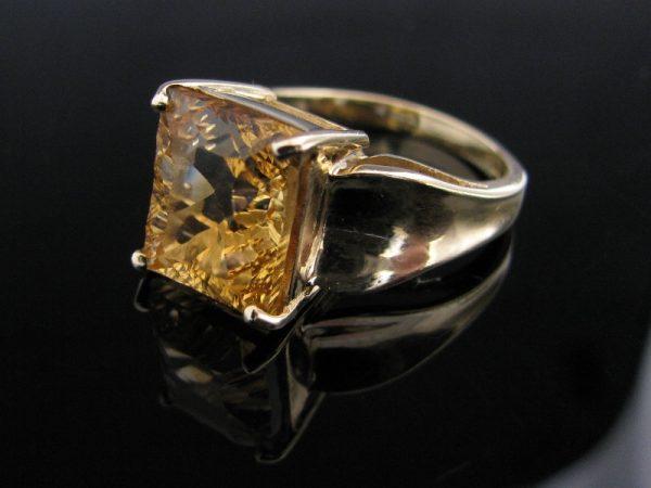 Golden Citrine Gemstone Ring 9k, jewellers, antique ring, jewellery shop, Galway