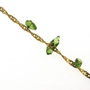 Gold Bracelet With Green Gemstones