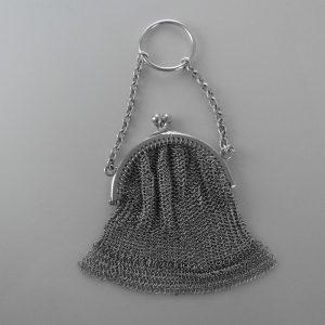 Vintage Silver Mesh Purse