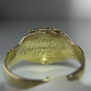 Rare Victorian Gold Signet Locket Ring