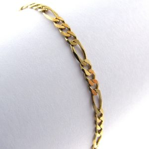 Gents Figaro Bracelet - 9k Yellow Gold