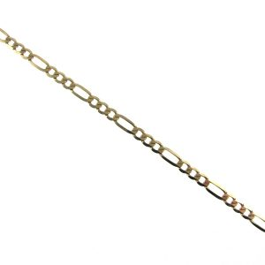 Ladies Gold Figaro Bracelet 9K