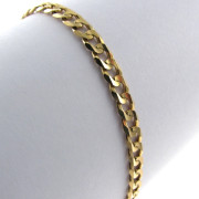 Ladies 9k Yellow Gold Cuban Link Bracelet