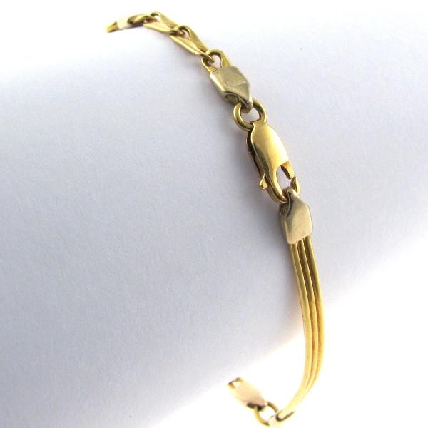 Fancy Link Gold Bracelet 18K