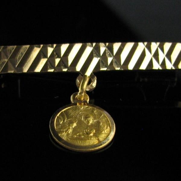 18k Gold Baptismal Medalion