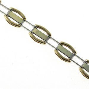 Two Tone 9k Gold Link Bracelet