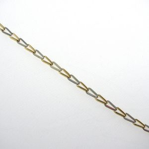 Yellow & White Gold Link Bracelet 9k