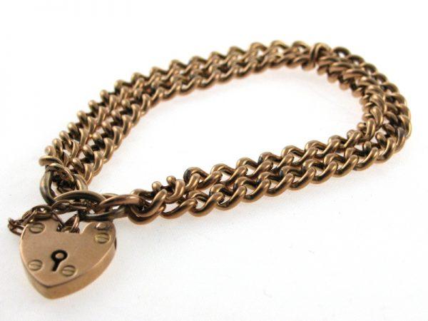 Edwardian Rose Gold Double Row Bracelet