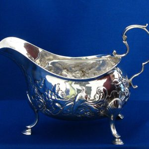 Antique Irish Silver Sauce Boat
