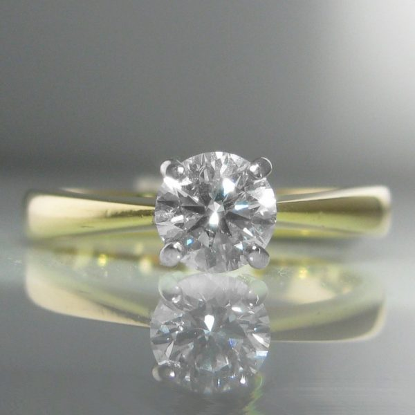 0.63ct Solitaire Diamond Ring