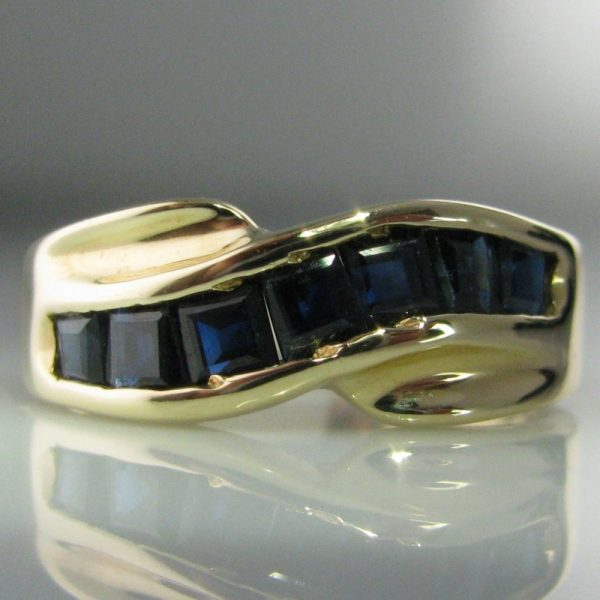 14k Gold Ring with Sapphires