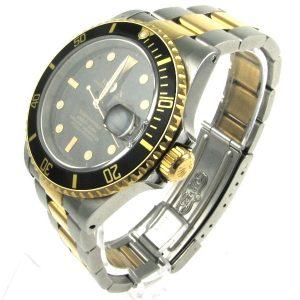 Rolex Submariner Black 16613 18K Gold/Steel
