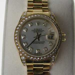 Rolex Ladies D/J Diamond 18K 179158