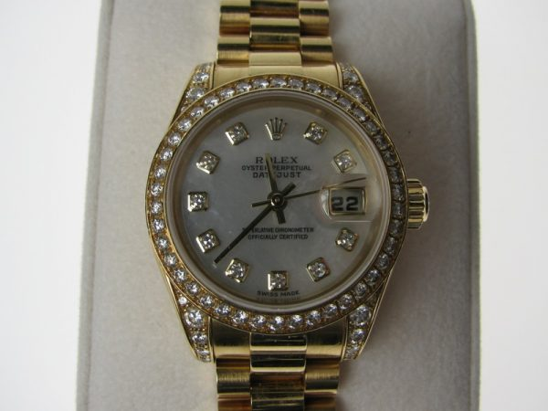 Rolex Ladies D/J Diamond 18K 179158