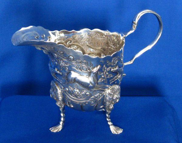 Antique Irish Silver Cream Jug